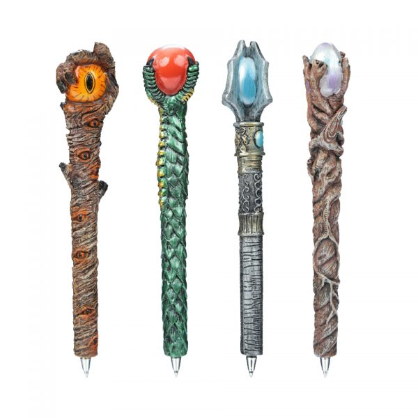 Enchanted Forest Wizard Wand Novelty Pen Puckator Arcane Wand Dragon Claw Evil Eye Silver Egg Magic Staff