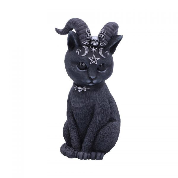Pawzuph Cat Nemesis Now Baphomet Occult Witchcraft Familiar Spiritual Dark Spirits Figure Magic Pentagram