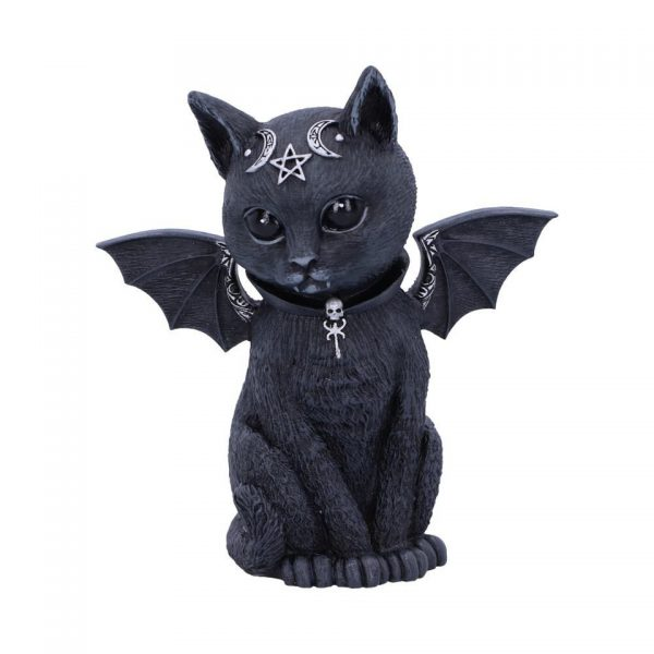 Malpuss Cat Nemesis Now Baphomet Occult Witchcraft Familiar Spiritual Dark Spirits Figure Magic Pentagram