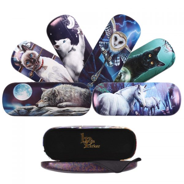 Lisa Parker Glasses Cases Something Different Spectacles Protective Case Wolves Wolf Owl Cat Kitten Familiar Witchcraft Occult Unicorn Mythical Hocus Pocus Quiet Reflection Rise Of The Witches Snow Kitten The Heart Of The Storm The Journey Home