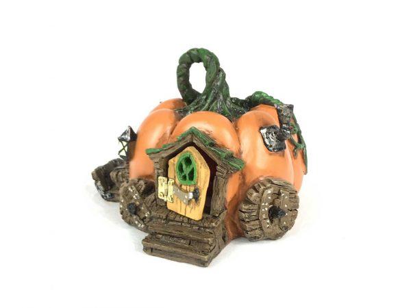 Pumpkin Fairy House Fiddlehead Fairies Garden Miniature Pixie Elf Fey