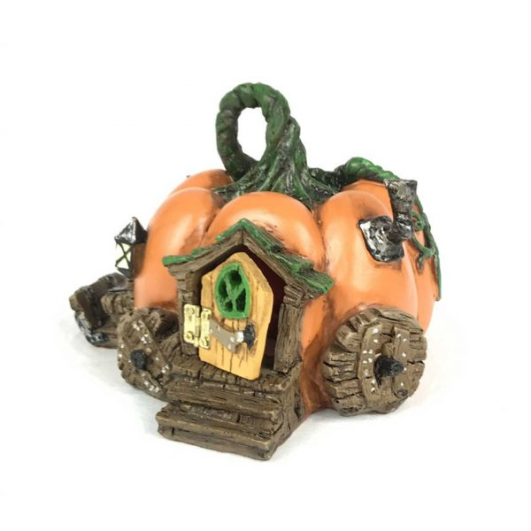 Pumpkin Fairy House Fiddlehead Fairies Garden Miniature Pixie Elf Fey