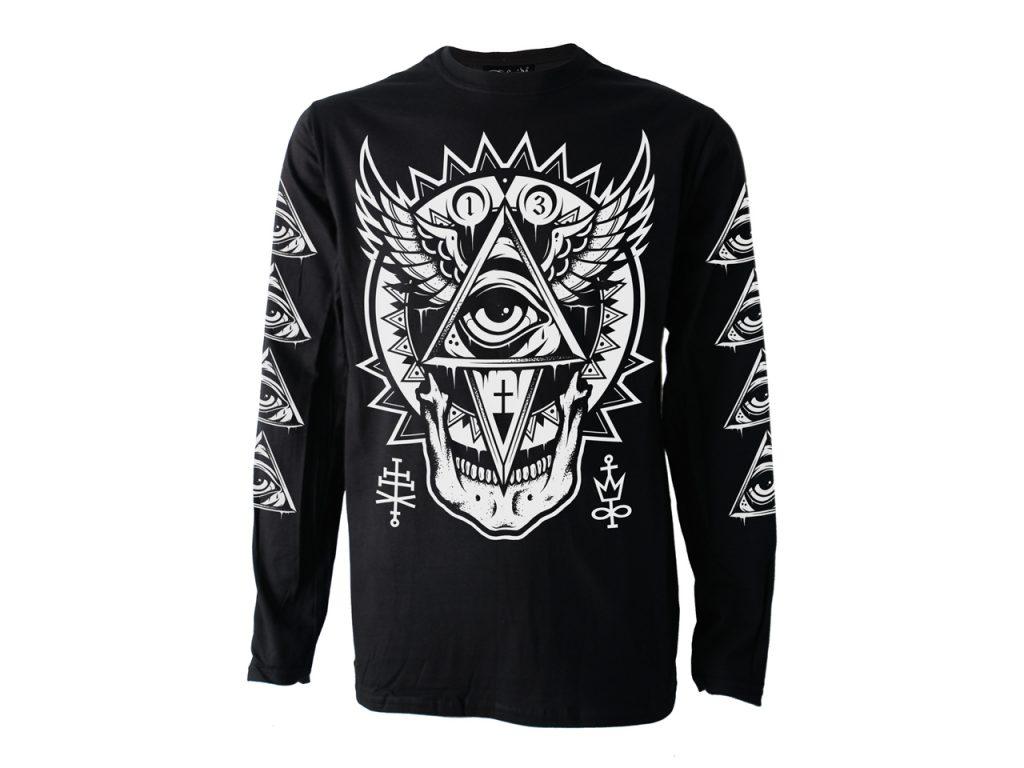 All Seeing Eye Long Sleeve Top T-shirt Darkside Clothing Alternative Fashion