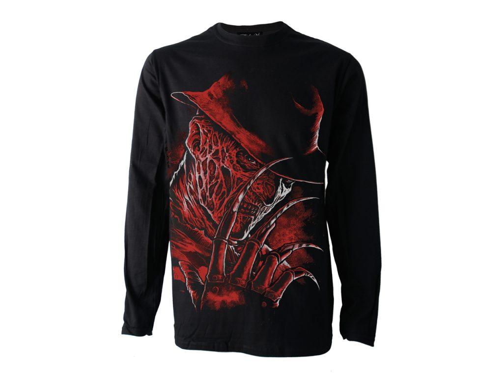 Freddy Krueger Long Sleeve Top T-Shirt Cult Horror Darkside Clothing Alternative
