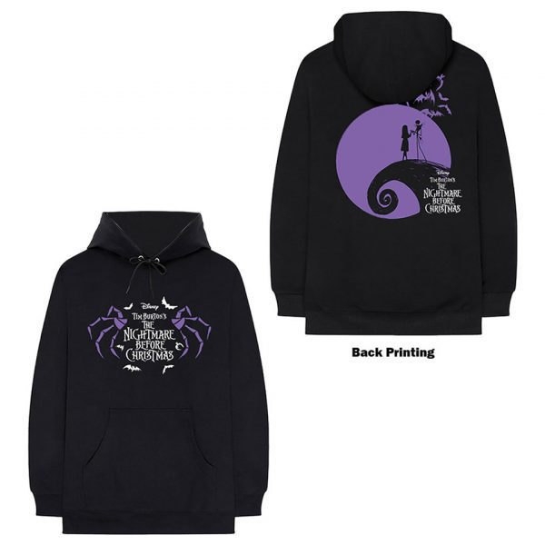 Nightmare Before Christmas NBX Jack Skellington Hill Logo Jumper Hoodie