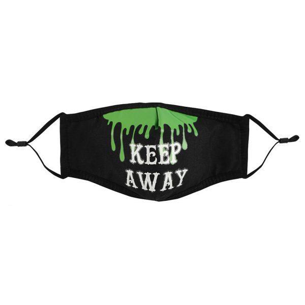 Keep Away Triple Layered Face Mask Covering Reusable Alternative Covid-19 Corona Virus