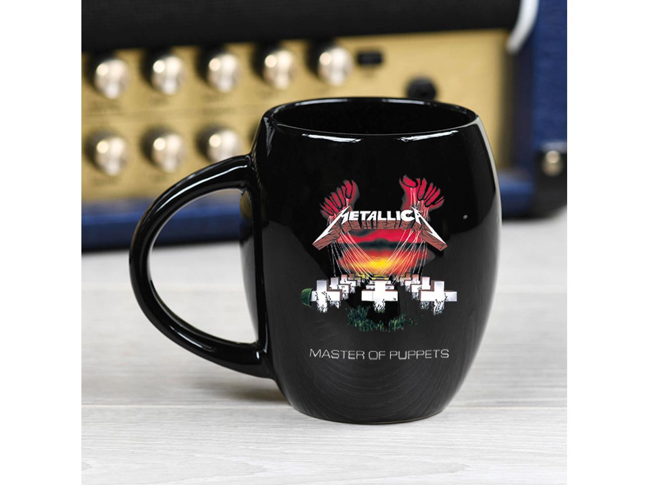 Metallica Black Oval Mug Official Band Merch Master Of Puppets Logo Iconic Music Rock Classic Retro Nostalgia
