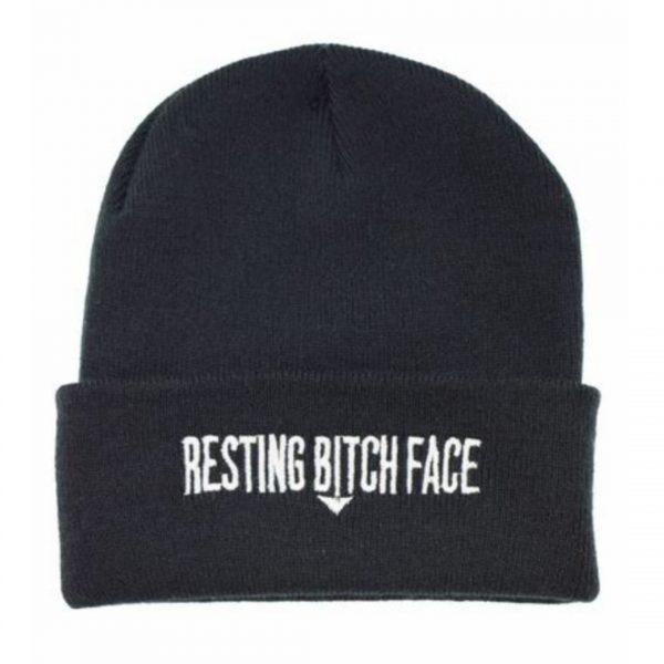 Resting Bitch Face Beanie Hat