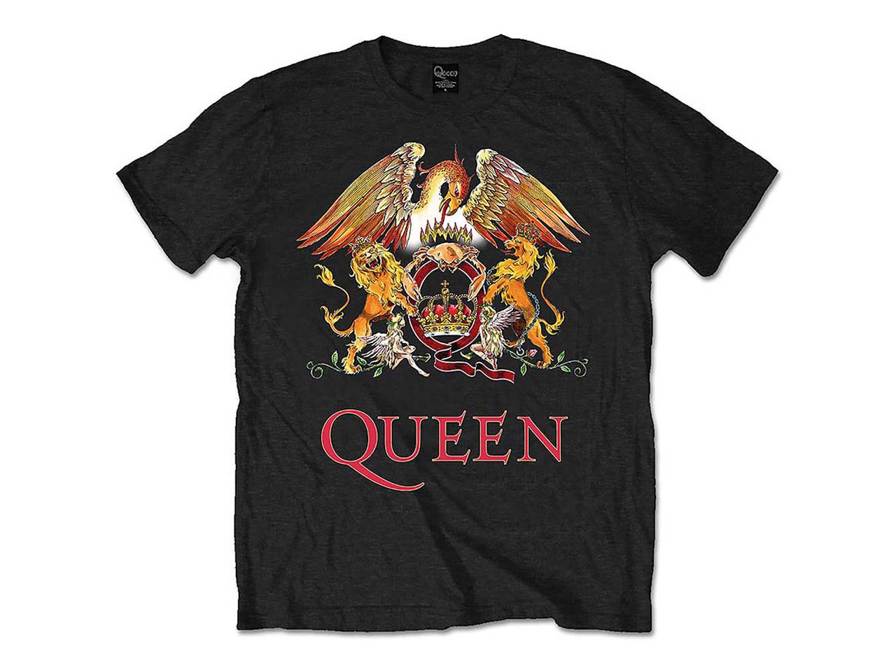 Queen Crest Iconic Band T-Shirt Merch Music Rock Logo Classic British