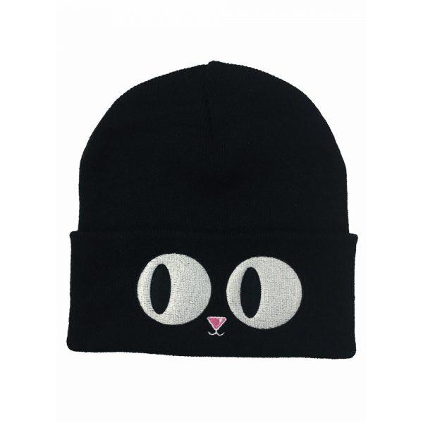 Cat Eyes Beanie Hat Winter Alternative Fashion Darkside Clothing