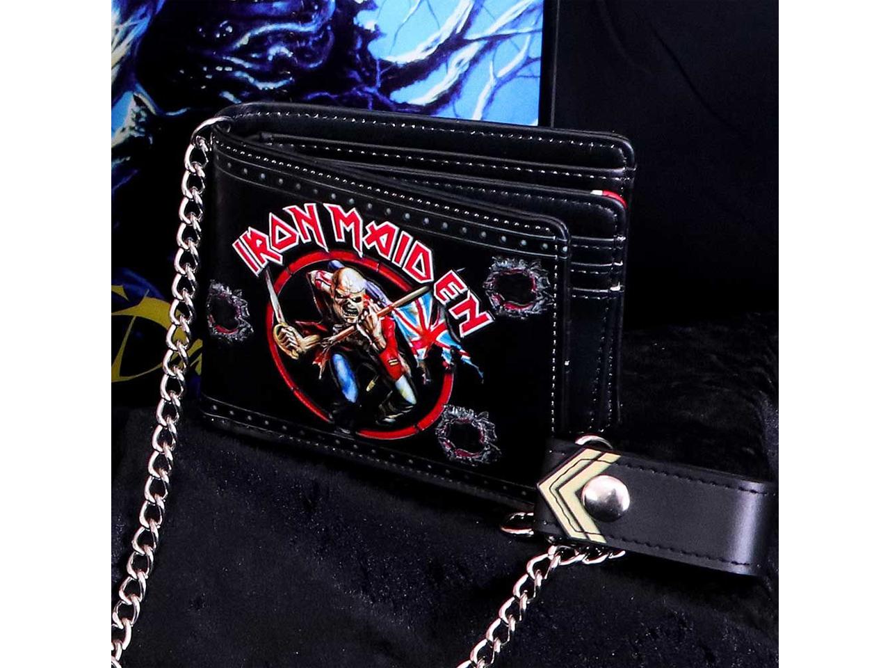 Iron Maiden Eddie Trooper Iconic Band Wallet Chain Merch Music Rock Metal Emo