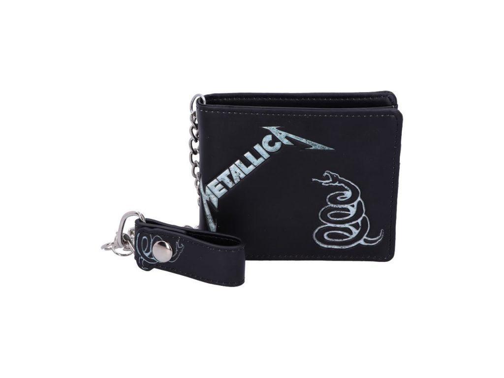 Metallica Black Album Snake Iconic Band Wallet Chain Merch Music Rock Metal Emo