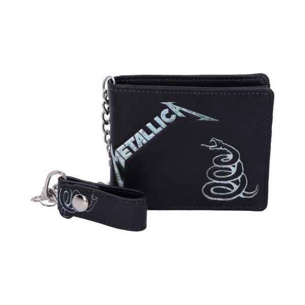 Metallica Black Album Snake Iconic Band Wallet Chain Merch Music Rock Metal Emo