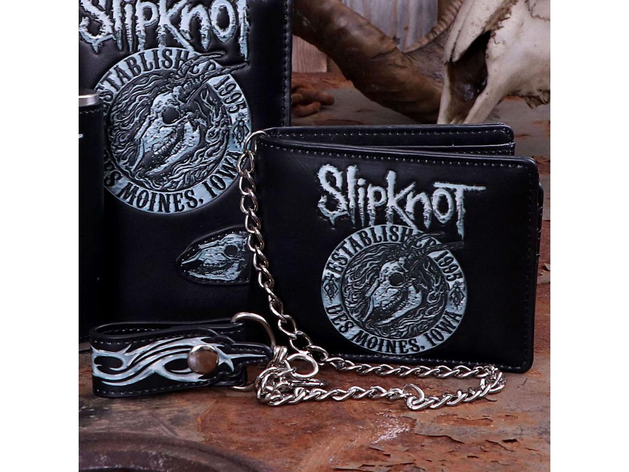 Slipknot Flaming Goat Iconic Band Wallet Chain Merch Music Rock Metal Emo
