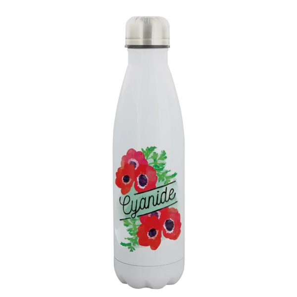 Cyanide Poppy Deadly Detox Poison Water Bottle Stainless Steel Grindstore