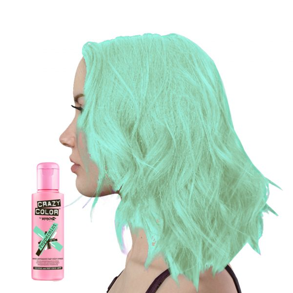 Peppermint Crazy Color Semi-Permanent Hair Dye Pastel Green