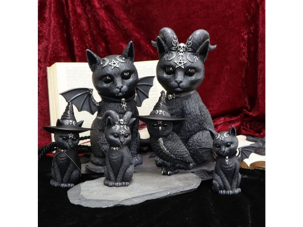 Owlocen Witch Owl Cult Cuties Cat Nemesis Now Baphomet Occult Witchcraft Familiar Spiritual Dark Spirits Figure Magic Pentagram Malpuss Pawzuph