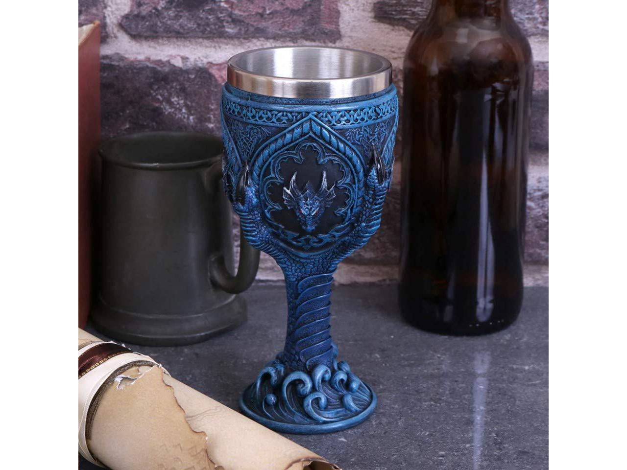 Draconic Grasp Goblet Dragon Celtic Drinkware Kitchen Chalice Wine Nemesis Now