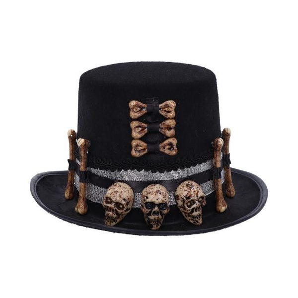 Voodoo Priest's Hat Top Black Magic Skull Skeleton Bone Dressage Gothic Nemesis Now