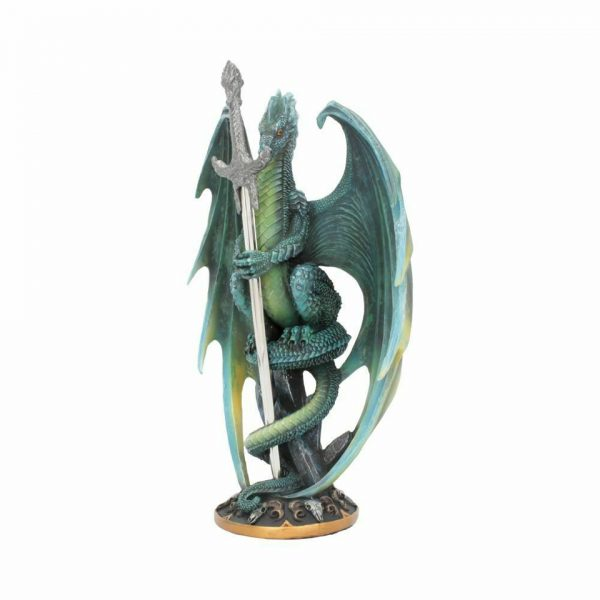 Skull Blade Jade Green Dragon Letter Opener Gothic Alternative Office Ornament Functional Nemesis Now
