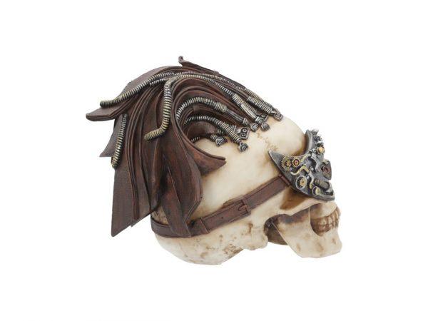 Dreadlock Device Skull Steampunk Leather Resin Nemesis Now Gothic Cranium