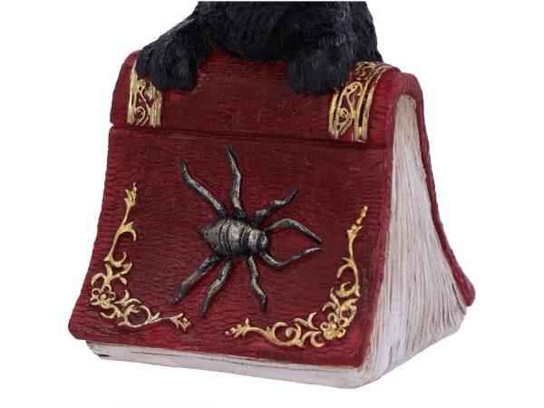 Hocus Cat Nemesis Now Grimoire Spell Book Occult Witchcraft Familiar Spiritual Dark Spirits Figure Magic