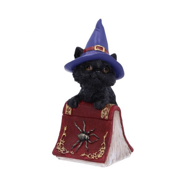 Hocus Cat Nemesis Now Grimoire Spell Book Occult Witchcraft Familiar Spiritual Dark Spirits Figure Magic