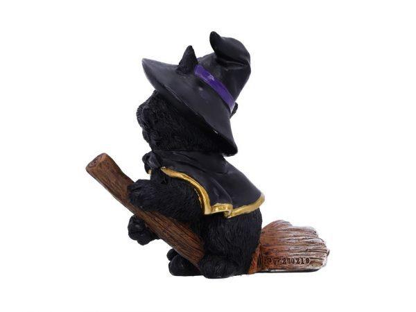Tabitha Cat Nemesis Now Broom Cape Occult Witchcraft Familiar Spiritual Dark Spirits Figure Magic