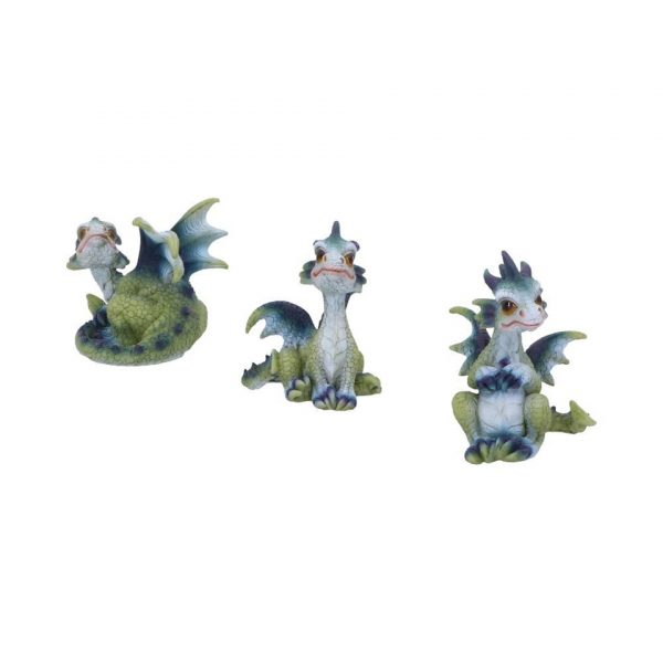 Triple Trouble Dragon Trio Triplets Hatchling Green Blue Purple Nemesis Now