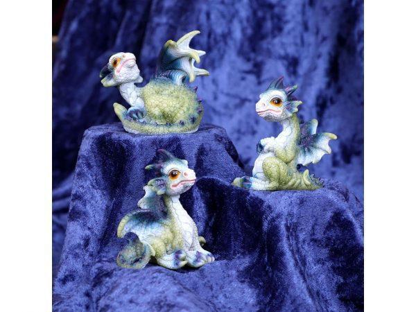 Triple Trouble Dragon Trio Triplets Hatchling Green Blue Purple Nemesis Now
