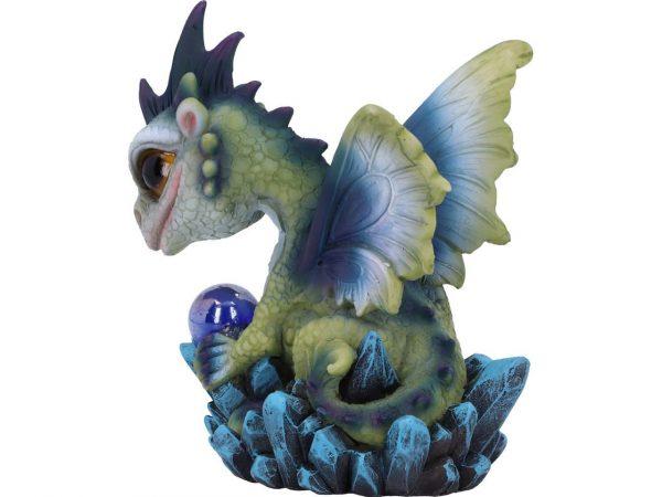 Hatchling Possession Dragon Green Blue Metallic Orb Crystal Geode Nemesis Now