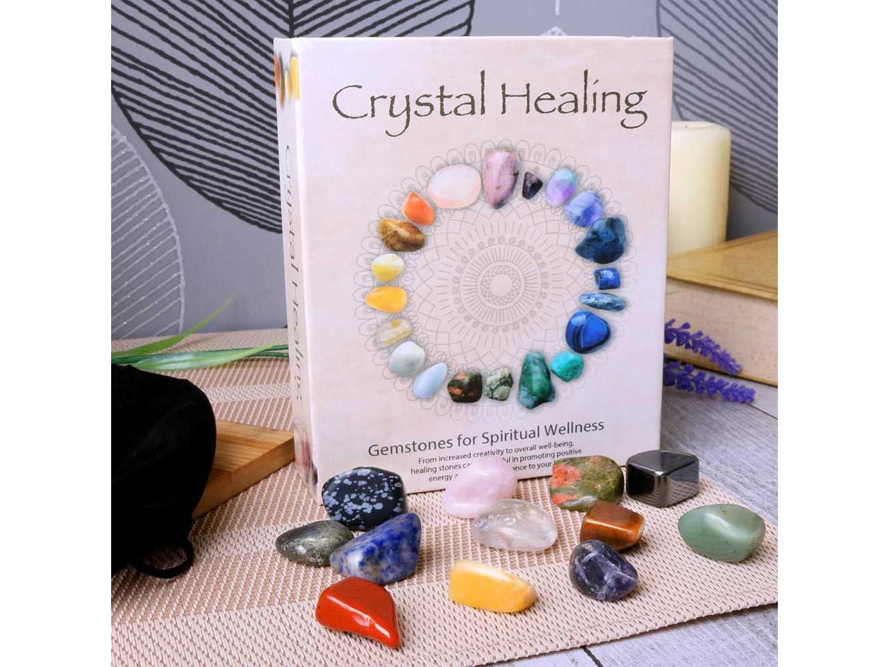 Crystal Healing Set of 12 Gemstones Natural Stone Positivity Spiritual Occult Ouija Nemesis Now Tarot Cards Witch Magic