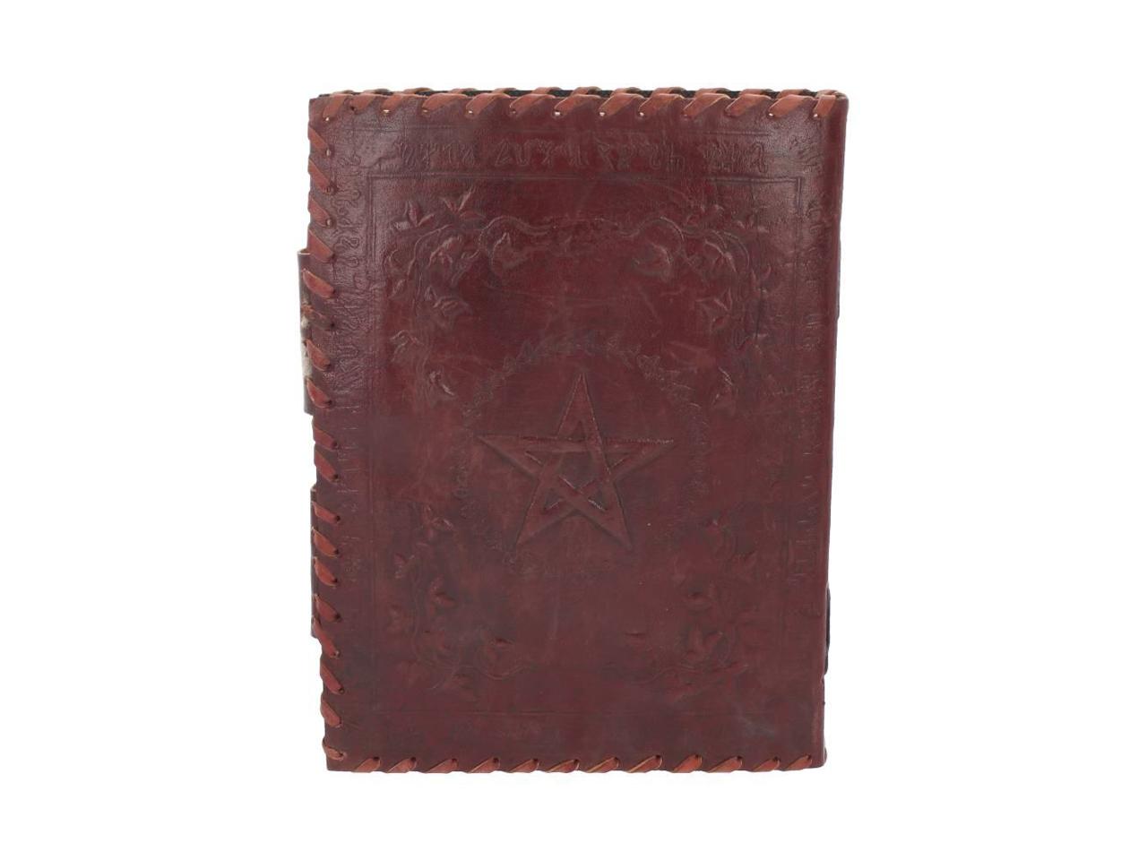 Book Of Shadow Leather Journal Note Book Plain Blank Paper Handmade Pentagram Celtic Magic Occult Pagan Spellbook Nemesis Now