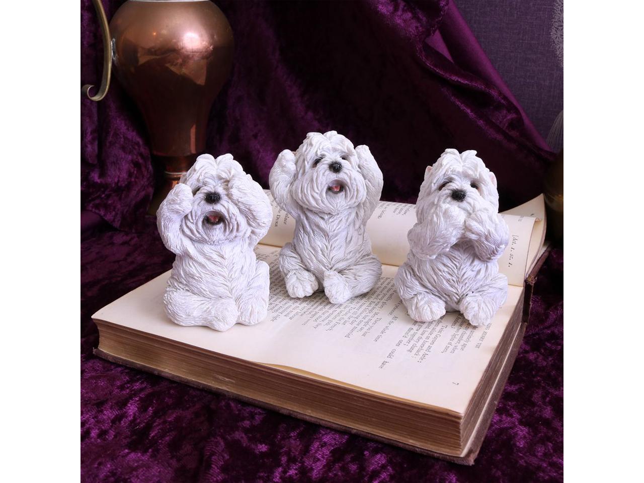 Three Wise Westies Dog Confucius Figures See No Evil Hear No Evil Speak No Evil Nemesis Now